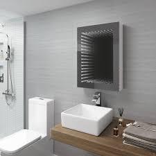 500 x 650 mm illuminated led infinity bathroom mirror cabinet