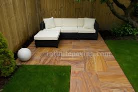 Indian Sandstone Patio by Sawn Rainbow Indian Sandstone Paving Free Uk Delivery