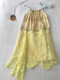children u0027s girls yellow cotton lace dress size 6 to 10