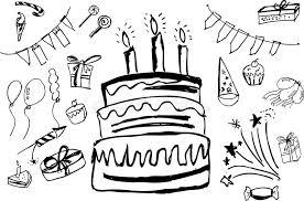 birthday stuff doodle birthday stuff stock illustration illustration of dessert
