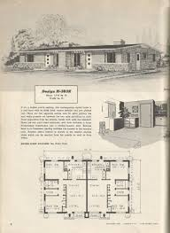 cool design ideas 3 colonial home plans from the 1950 s vintage