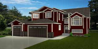 bi level house plans with attached garage 3 car garage house plans by edesignsplans ca 4