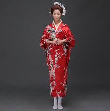 Womens Peacock Halloween Costume Aliexpress Buy Blue Japanese National Women Silk Kimono