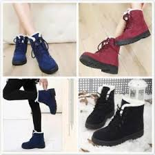 s boots with fur flat lace up fur lined winter martin boots ankle boots