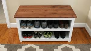 Bench With Shoe Storage White Adjustable Shoe Storage Bench Diy Projects