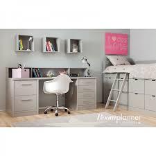 bureau surélevé chambre enfant avec lit à tiroirs bureau et rangement asoral ma