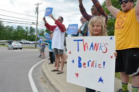 vermont supporters give bernie sanders a warm welcome home