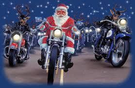 motorcycles harley davidson santa claus reindeer merry christmas