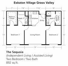 Two Bedroom Floor Plan by Senior Independent Assisted Living U0026 Memory Care In Grass Valley