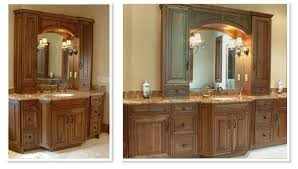 Bathroom Vanity With Side Cabinet Bathroom Custom Made Bathroom Vanity 52 Inch Vanity Wall Mounted
