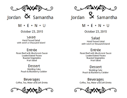 wedding menu templates wedding menu template free edit fill create and print