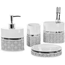 bathroom shoo holder amazon com 4 piece bathroom accessory set gift package soap