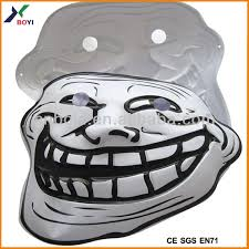 Troll Meme Mask - realistic troll mask 3d embossed face mask meme party mask view