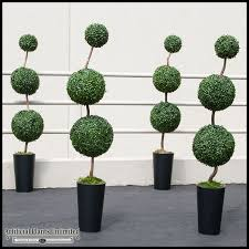 topiary trees outdoor artificial topiaries sphere topiary
