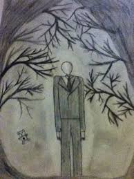 slenderman drawing forest pencil sketch by morganstrong on