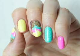 ice cream nail art tutorial for divine caroline nailed it the