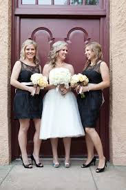 short or long bridesmaid dresses if my wedding dress is tea length