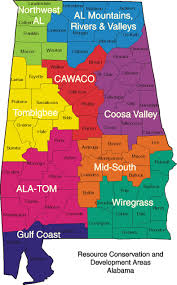 Map Alabama Map Of Rc U0026d Areas In Alabama Nrcs Alabama