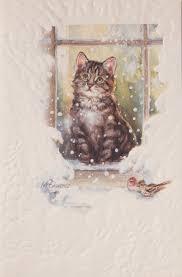 pumpernickel christmas cards cat christmas cards 910 br new embossed by pumpernickel press