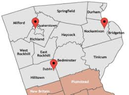 map of bucks county pa towns bucks county pa information