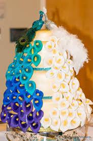 peacock wedding cake topper classic formal blue gold green purple white buttercream