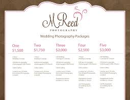 wedding photographers prices wedding photography packages m reed photography