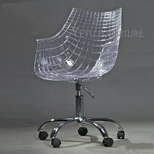 clear plastic desk chair clear office chair atken me