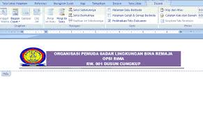 membuat kop surat organisasi cara mudah membuat kop surat dengan word office