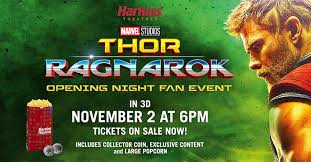 thor ragnarok opening night fan event join thor and his unlikely allies in the harkins theatres