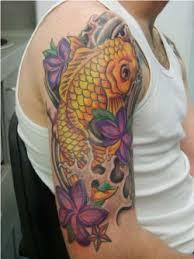 japanese koi fish sleeve tattoos for men