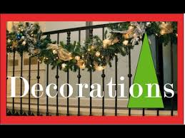 Banister Decor Garlands On The Staircase And Banister Christmas Decorating And