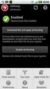 adaway android android underground banner blocker adaway sends your hosts file