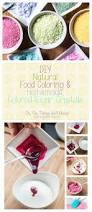 diy natural food coloring and homemade colored sugar crystals
