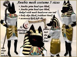 Anubis Halloween Costume Marketplace Anubis Egyptian God Mesh Costume 5 Sizes