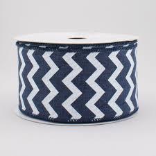 navy blue ribbon 2 5 canvas chevron ribbon navy blue white 10 yards rg101919