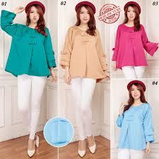 model baju model baju atasan terbaru untuk wanita gemuk abwg02 cuma rp 69 000