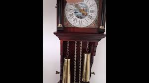 Grandfather Clock Weights Dutch Large Friese Tailed Chain Driven 8 Day Wall Clock Weights