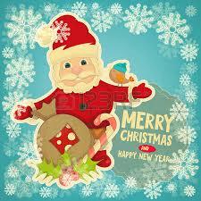 christmas card with dutch santa claus sinterklaas and black