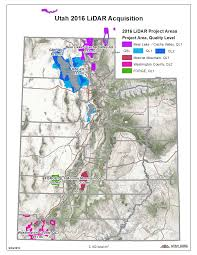 Utah Counties Map 2016 Utah Lidar Acquisition Updated