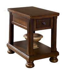 Chair Side Table Furniture Porter Brown Chair Side Table The Home