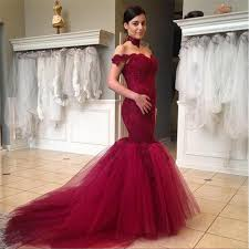 prom dress lace prom dress mermaid prom dresses burgundy prom