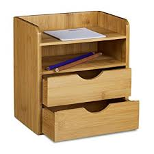 organiseur de bureau en bois relaxdays organiseur de bureau en bambou casier de rangement 2