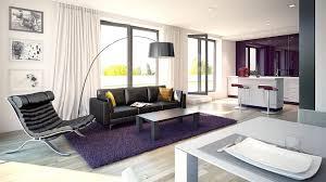 floor plan of a modern apartment on graph paper vector blueprint