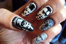 classic halloween monsters scary horror halloween monsters nail art retro monster horror