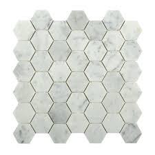 splashback tile hexagon white carrera 12 in x 12 in x 8 mm floor