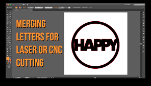 merging letters for laser or cnc cutouts youtube