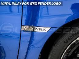 subaru wrx logo fender emblem inlays 2015 wrx emblems decals exterior