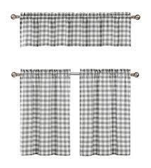 Black And White Checkered Curtains Plaid Kitchen Curtains Kitchen Design