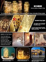 Festive Outdoor String Lights by Kohree 10ft 60 Leds String Lights Aa Battery Powered Decor
