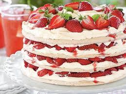 fresh strawberry meringue cake recipe myrecipes